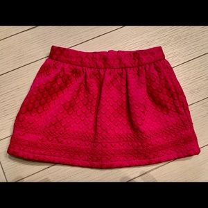 Hot pink lined toddler skirt